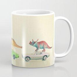 Dinosaurs Ride Cars Coffee Mug