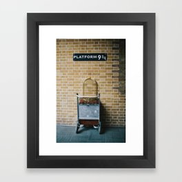 Platform 9.3/4 Framed Art Print