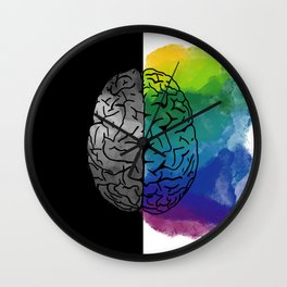 Left Brain, Right Brain Wall Clock