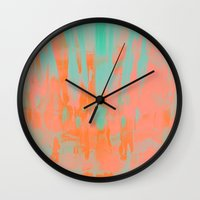 carousel Wall Clocks featuring Carousel by Denise Medina