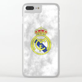 Real Madrid CF sketch Clear iPhone Case
