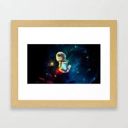 Baby Astronaut Framed Art Print