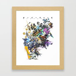 23 Heroes Framed Art Print
