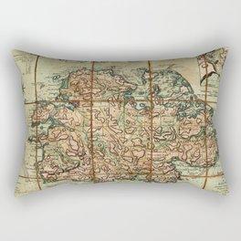 Map Of Antigua 1779 Rectangular Pillow