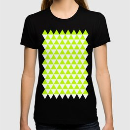 Triangles (Lime/White) T-shirt