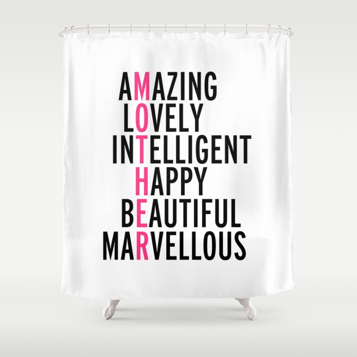 Mother Quote Shower Curtain by envyart   Society6