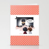 kpop Stationery Cards featuring Kpop UNIQ Wang Yibo  BD-03 by Rei Lydia