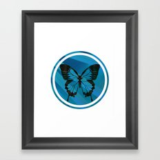 Blue Virus Framed Art Print