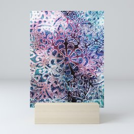 Colourful Happy Ethnical Art Mini Art Print