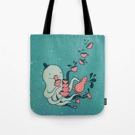 Tea & Tentacles Tote Bag