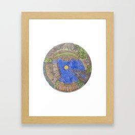 A Round Edinburgh Framed Art Print