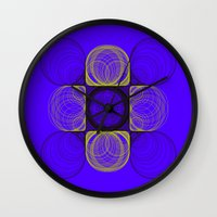 lee pace Wall Clocks featuring spirals pace by Gaspart