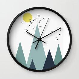 Morning birds Wall Clock