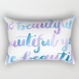 You are Beautiful Watercolor Rectangular Pillow