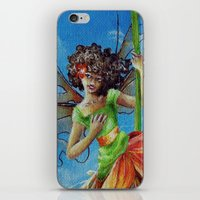 marianna iPhone & iPod Skins featuring Marianna - Heliconia Haute Couture by Lauralin Maynard
