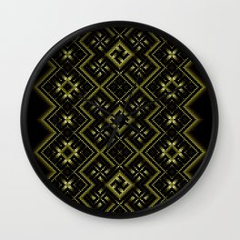 Solar signs. Ancient ornament. Sacred geometry Wall Clock