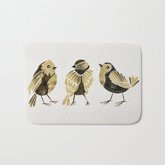 24-Karat Goldfinches Bath Mat