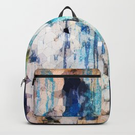 Texture in blue Backpack