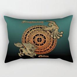 Fenghuang and Qilin Rectangular Pillow