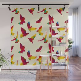Flying pigeons Wall Mural