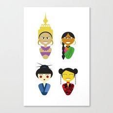 Asian Dolls Canvas Print