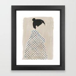 Holly Cross Framed Art Print