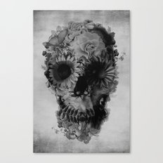 Skull 2 / BW Canvas Print