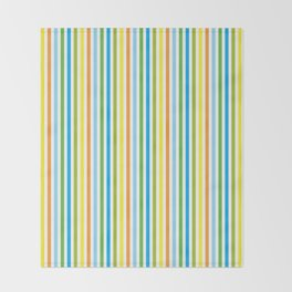 Colourful Pinstripes Throw Blanket
