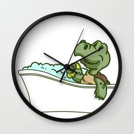Bathtub turtle Wall Clock