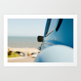 The blue car Art Print