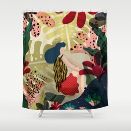 Relaxed in Jungle - The Book Lover Shower Curtain