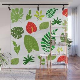 Leaves Pattern Wall Mural