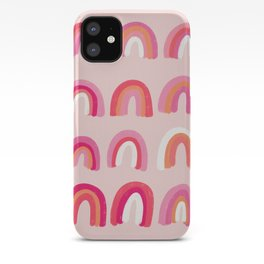 Rainbow Paint Rolls – Pink iPhone Case