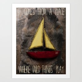 In and Out Of Weeks...To Where The Wild Things Are Art Print