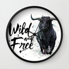 Buffalo wild & free Wall Clock