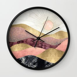 Blush Sun Wall Clock