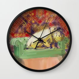 animals in chairs #8 variation on a theme Hippo Wall Clock