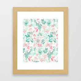 Flirt Mint Blush Framed Art Print