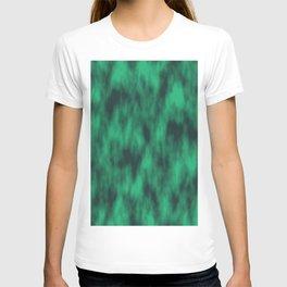 Modern emerald green texture T-shirt