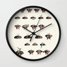 Collection of Butterflies Wall Clock