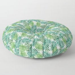 Mini Green Monstera Tropical Plant Pattern Floor Pillow