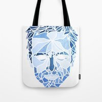 jesse pinkman Tote Bags featuring Crystallized Morality - Jesse Pinkman by Tyler Schmidt