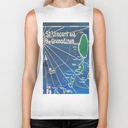 St. Vincent & Grenadines Sailing Map Biker Tank