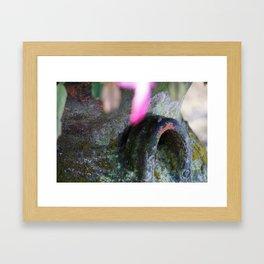 Christmas Cactus Flower Pot Framed Art Print