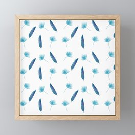 Elegant Tropical Pattern in White Framed Mini Art Print