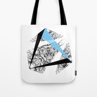 hexagon Tote Bags featuring Hexagon by ADGPC