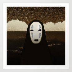 No-Face Maki-e Art Print