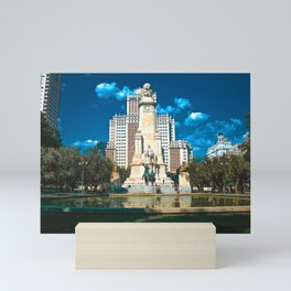 Statue of Don Quixote and Sancho Panza - Plaza de España Mini Art Print