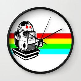 Robo Rainbow Wall Clock