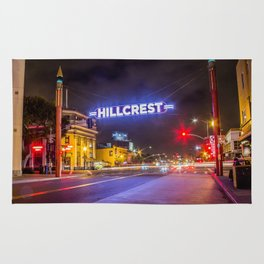 Hillcrest (San Diego) Sign - SD Signs Series #3 Rug